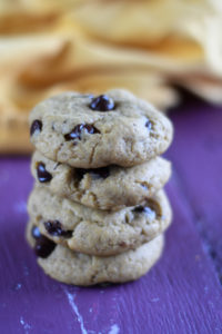 These Vegan Pumpkin Chocolate Chip Cookies are soft, light, and so fluffy.