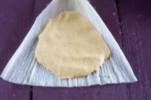 Vegan masa dough for tamales