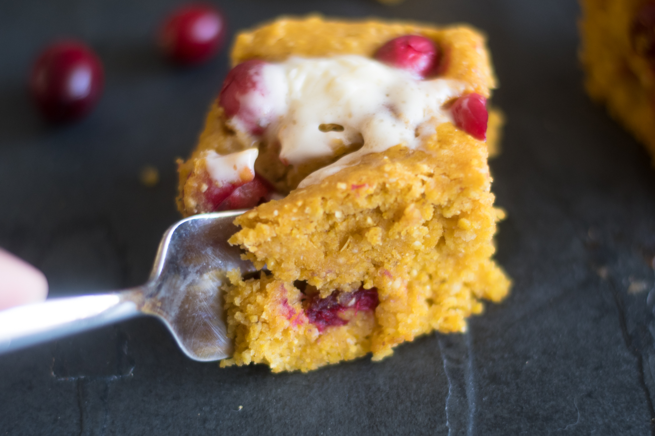 Vegan Pumpkin Cranberry Cornbread is perfect for making this fall and for Thanksgiving.