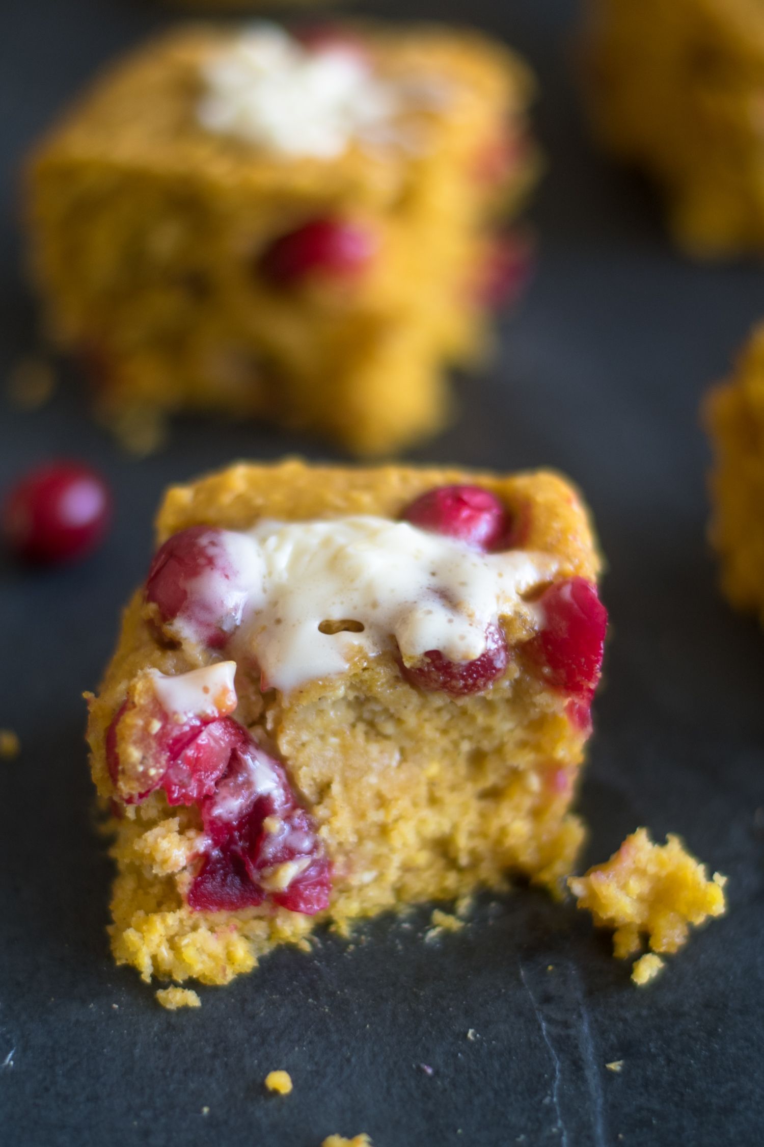 Vegan Pumpkin Cranberry Cornbread is perfect for making this fall and for Thanksgiving. #fall #vegan #recipe #thanksgiving