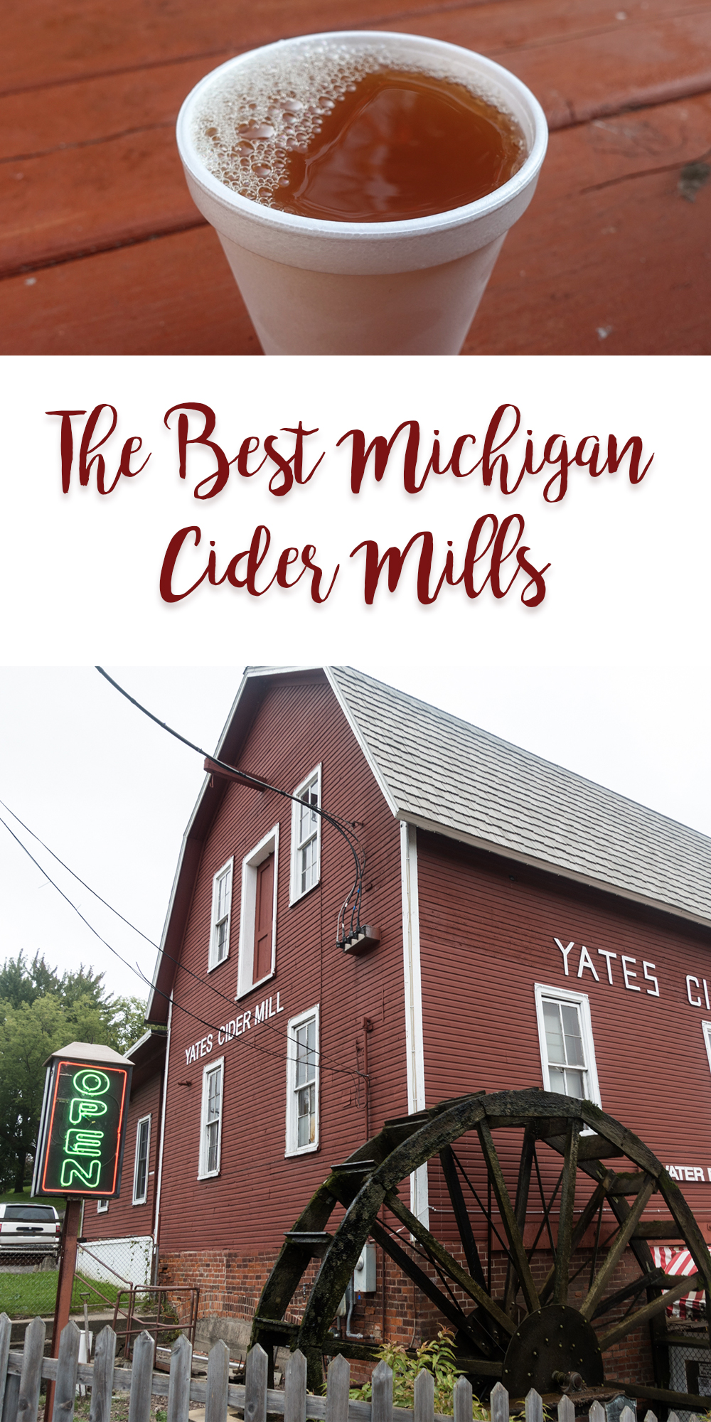 With so many cider mills throughout Michigan, it can be hard to pick which one to visit. These are the best Michigan cider mills to visit this fall! #Michigan #travel #Fall #Midwest #apples