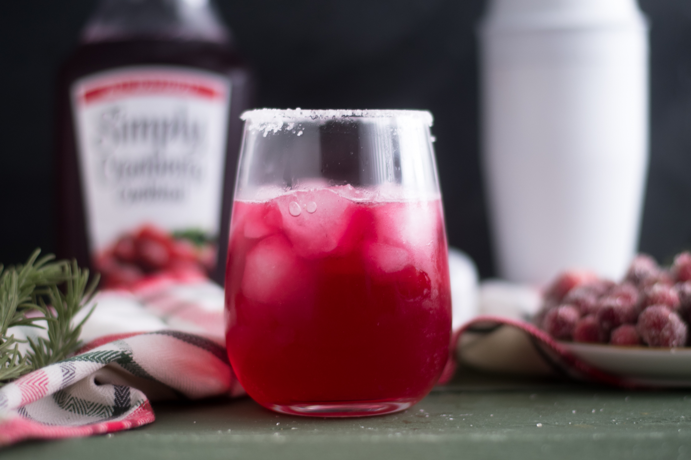 This Cranberry Margarita is one of my favorite cocktails to make during the holidays.