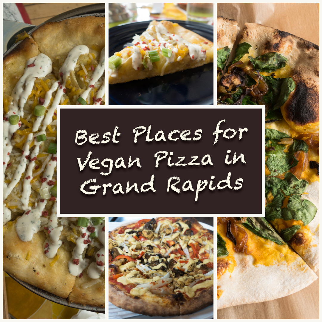 Grand Rapids is pretty vegan-friendly, but it seems that many of the vegan options are pizza—which is completely fine by me! Who doesn't love a good slice of pizza?! #vegan #pizza #grandrapids #travel #vegan #vegantravel #Michigan