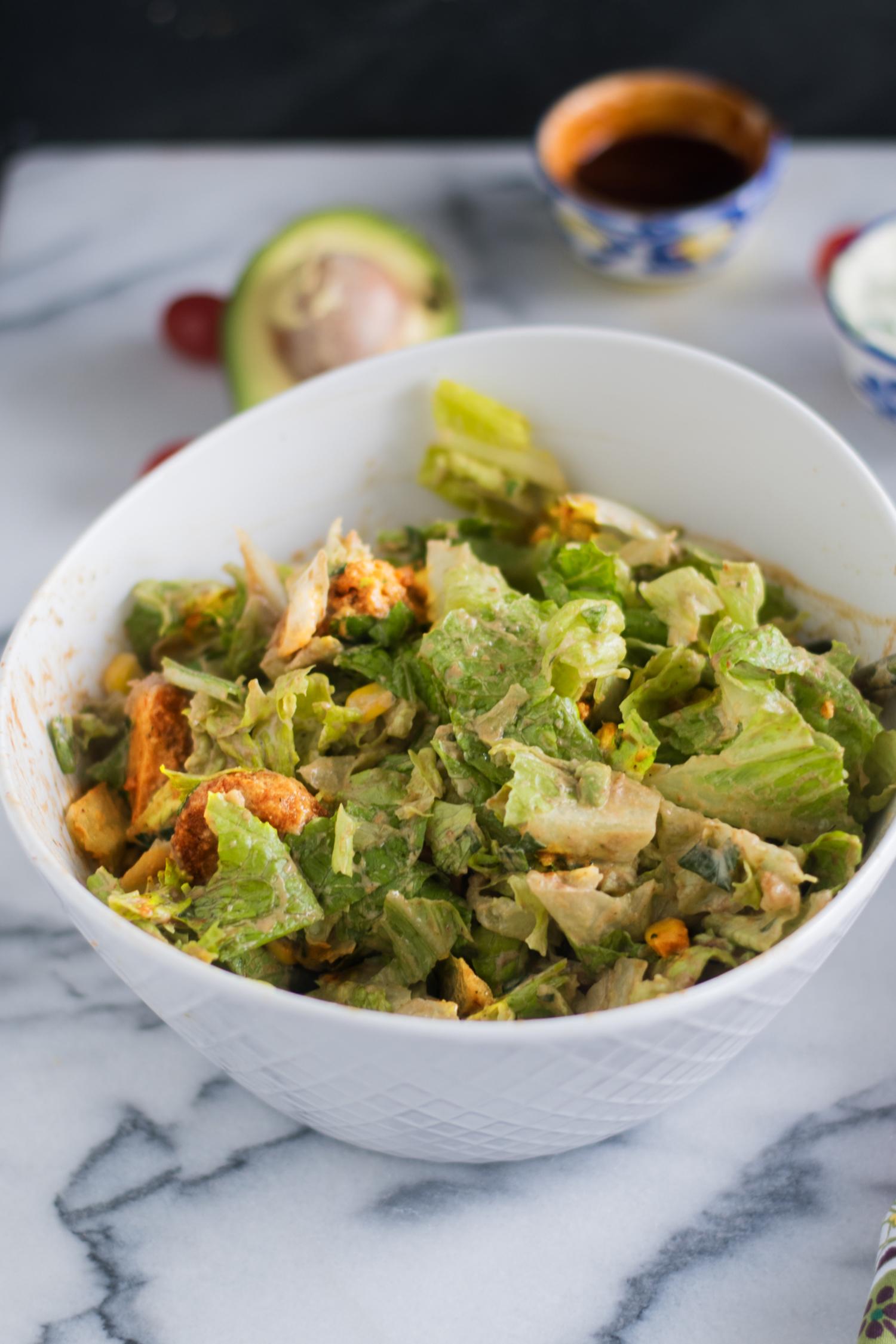 Vegan BBQ Ranch Chicken Salad