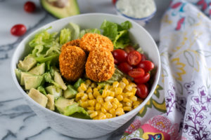 Vegan BBQ Ranch Chicken Salad is a great way to incorporate more meatless options into your daily meal plan. #vegan #salad #recipe