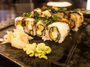 Vegan Sushi at the Ironworks Hotel