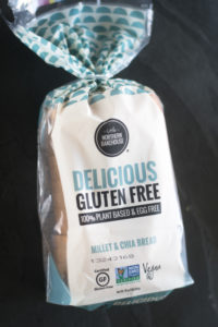 t is really hard to find a gluten-free bread that is also vegan. Many gluten-free breads on the market have eggs. The products fromLittle Northern BakehouseareNon-GMO Project verified, made from whole-food ingredients, and many of the products are plant-based and vegan!
