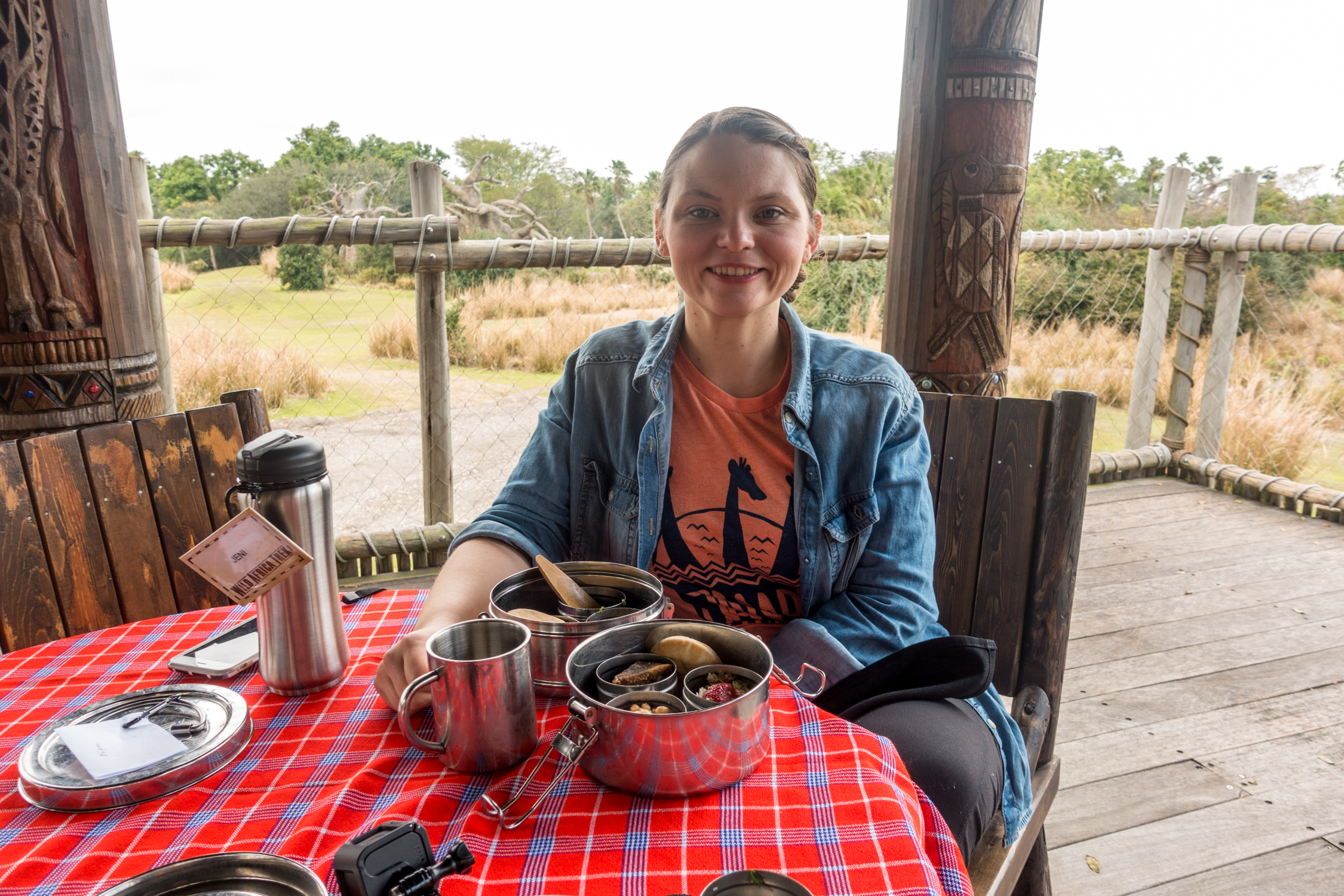 Vegan options on Disney's Wild Africa Trek #vegan #disney #vegantravel #disneyworld