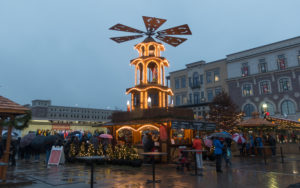 In Carmel, Indiana, you can find the traditional old world German market right in the heart of downtown Carmel. The Chirstkindlmarkt features a blend of traditional holiday food, drinks, and decor.