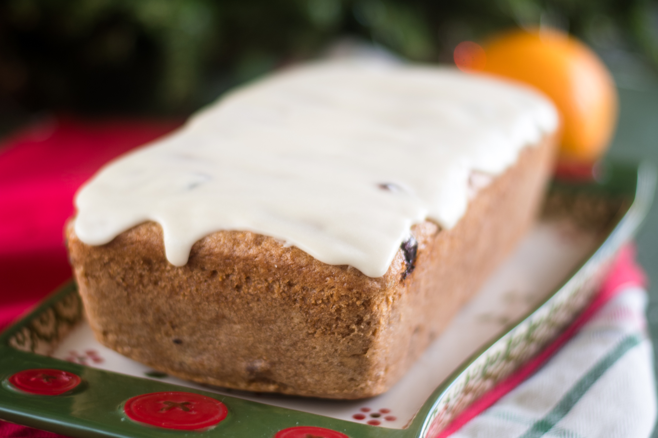 This Vegan Cranberry Orange Pound Cake is so moist and tender. It is hard to even detect that this festive pound cake is completely vegan.