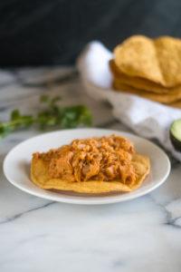 Vegan take on a traditional Mexican tinga recipe. #vegan #vegetarian #Mexican #recipes #entree #Christmas #holiday