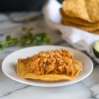 Vegan take on a traditional Mexican tinga recipe. #vegan #vegetarian #Mexican #recipes #entree #Christmas #holiday