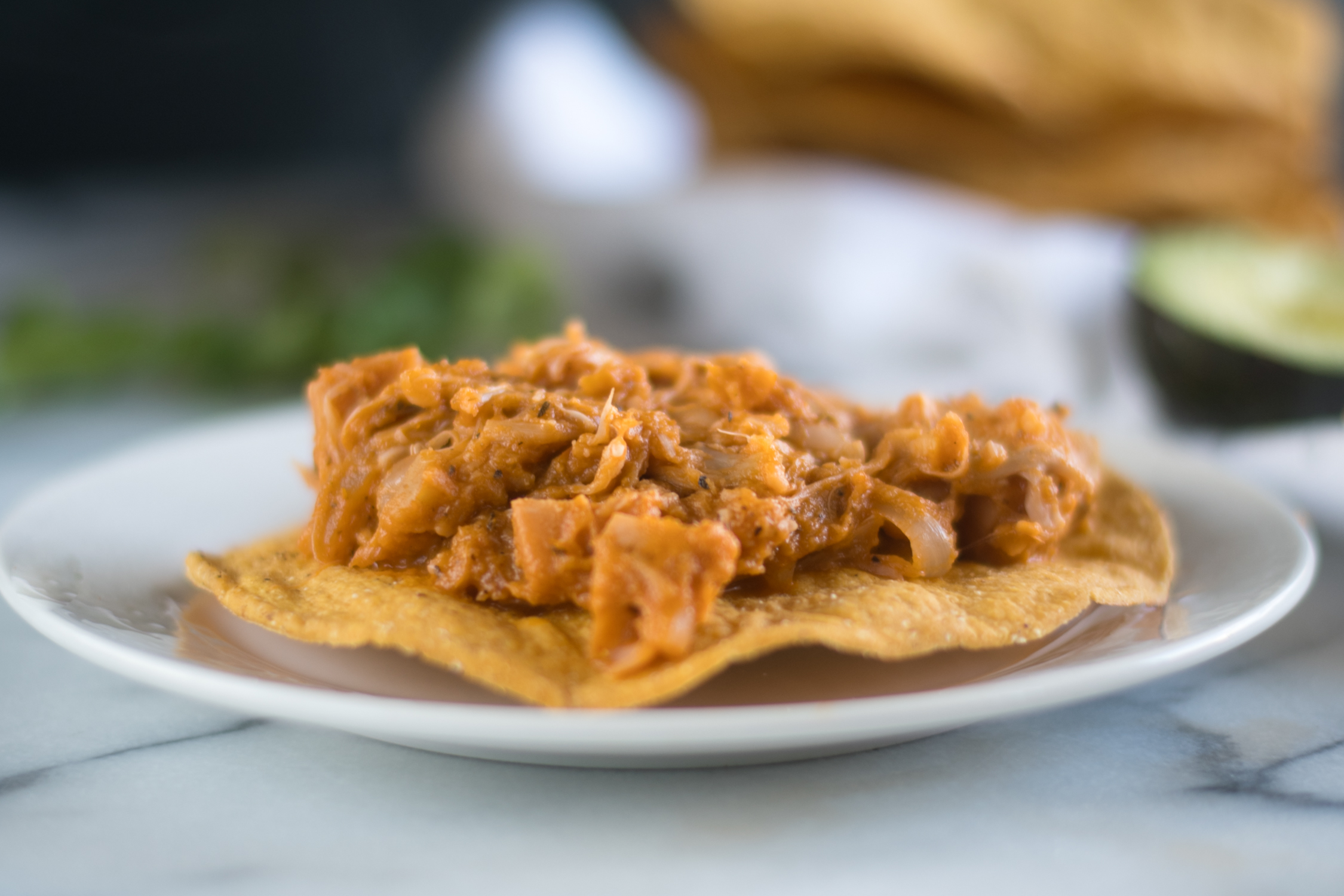 Vegan Tinga mad with Jackfruit #vegan #recipes #Mexican #recipes
