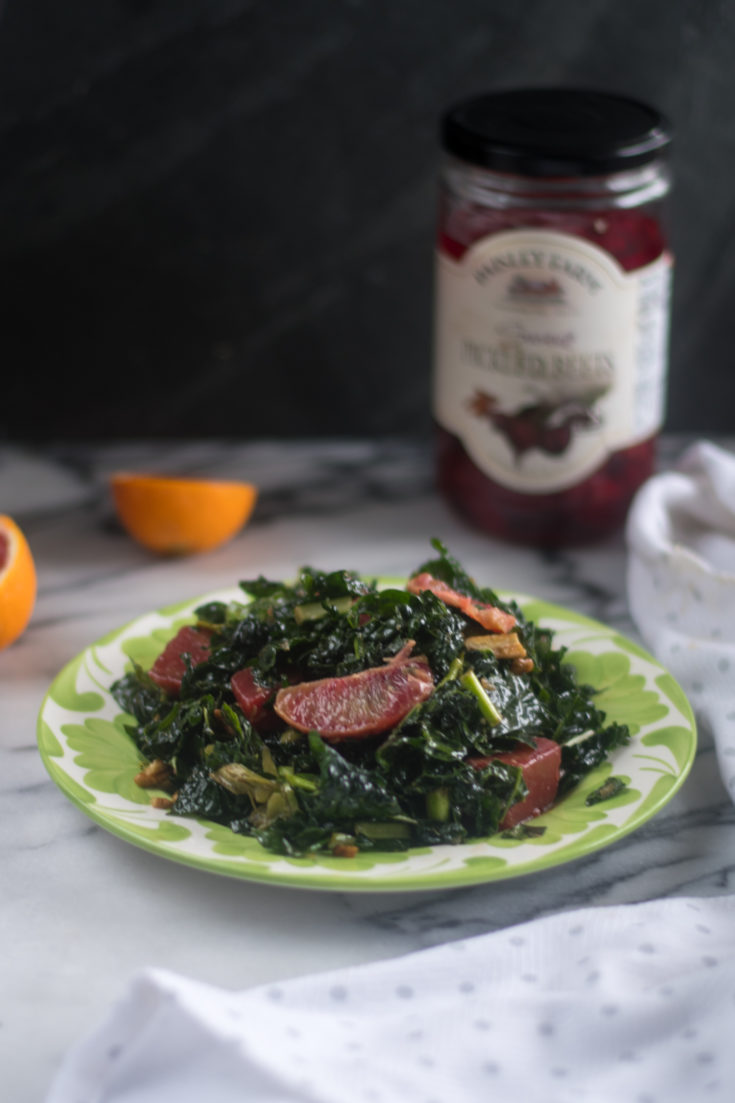 Pickled Beet and Orange Kale Salad