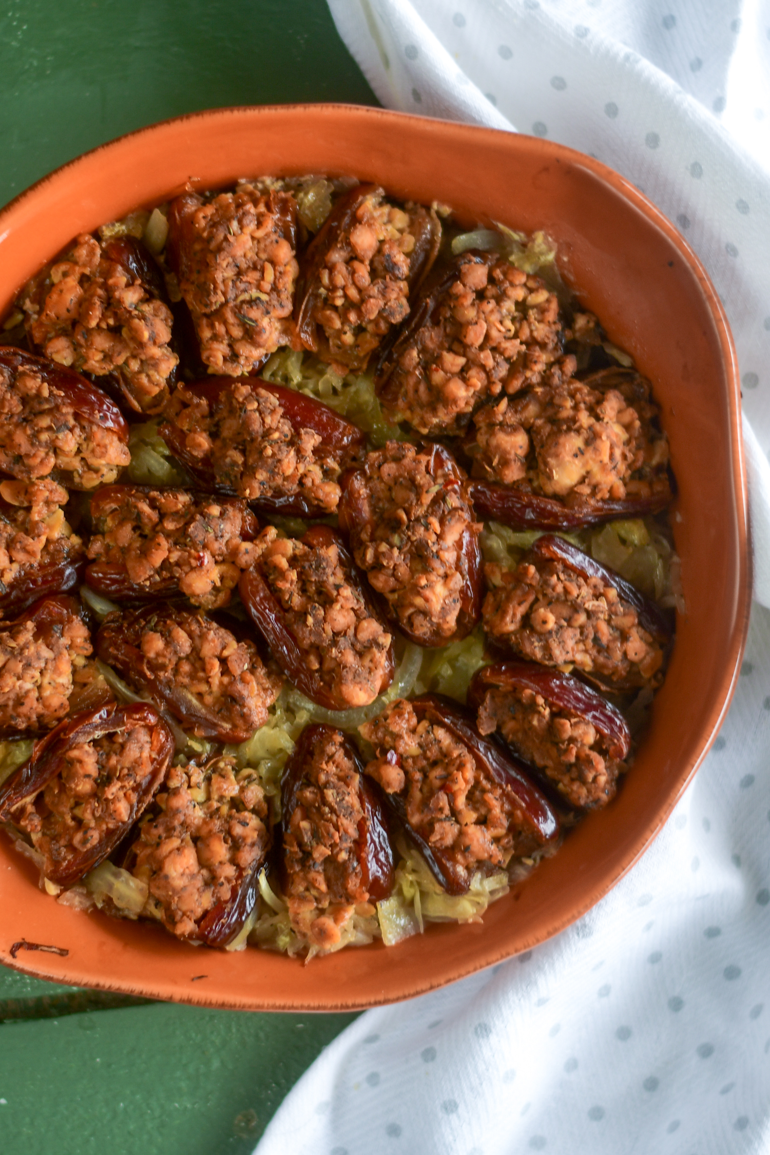 Vegan Sausage Stuffed Dates are perfect for entertaining.