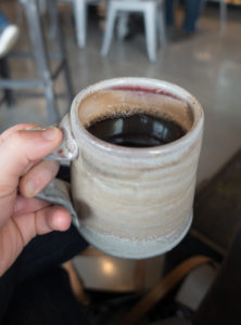Coffee at Wheeler's Cafe in Indiana