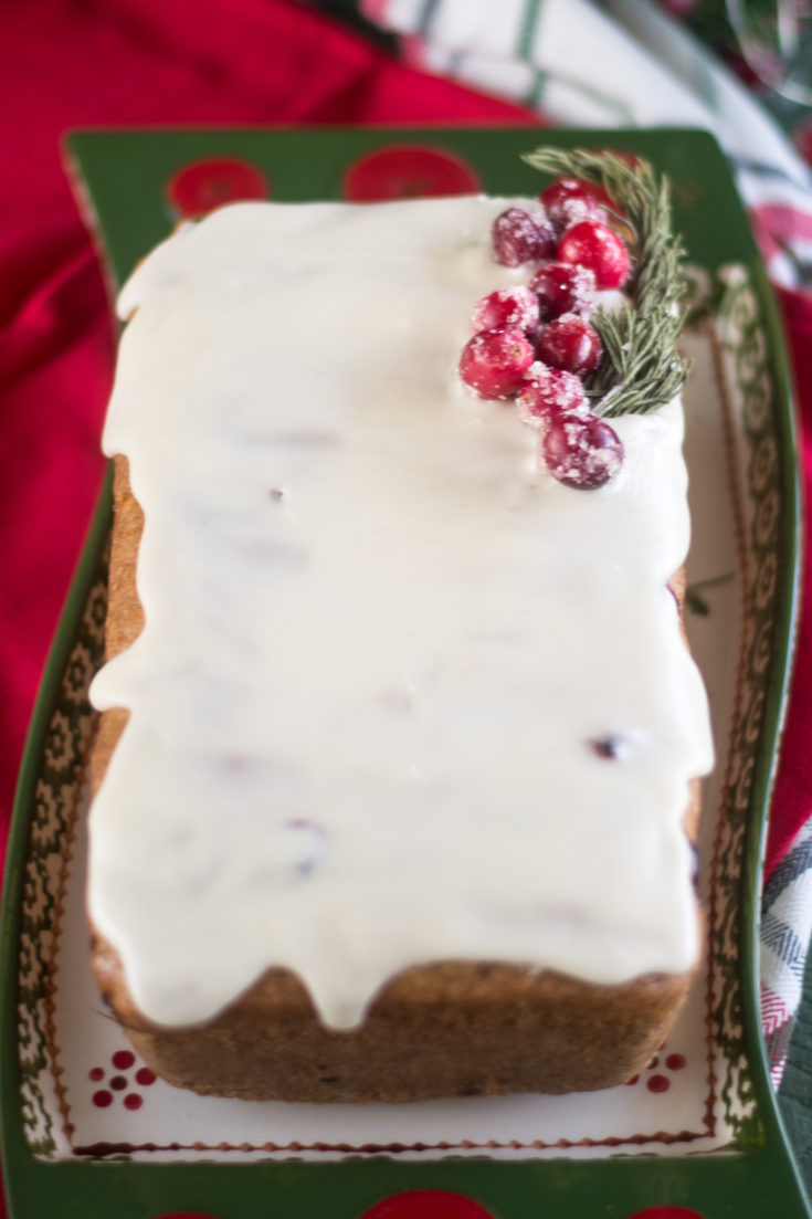 Vegan Cranberry Orange Pound Cake
