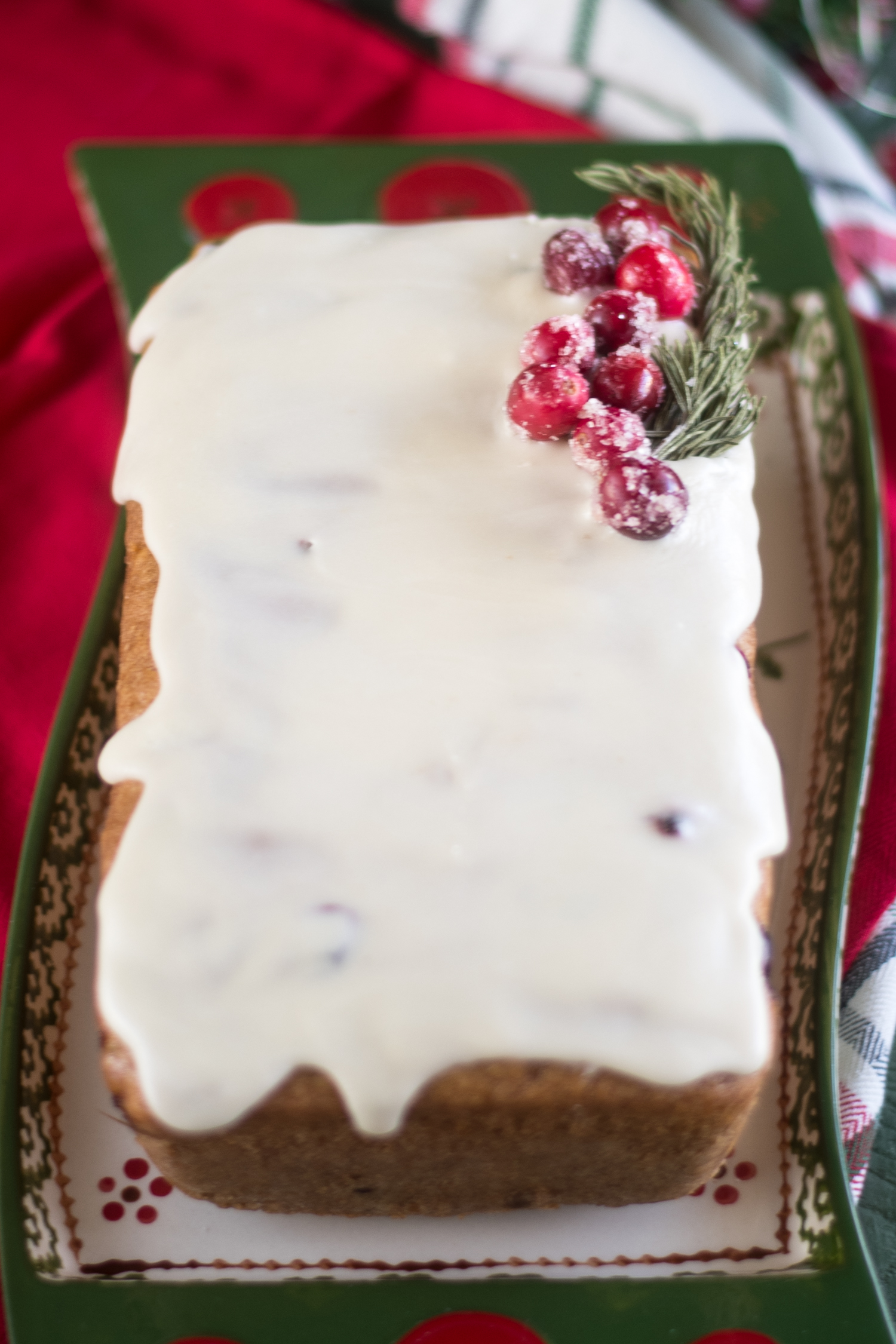 This Vegan Cranberry Orange Pound Cake is moist, flavorful, and will soon become a favorite to bake during the holidays and winter months. #Vegan #dessert #recipes #Christmas #holidays