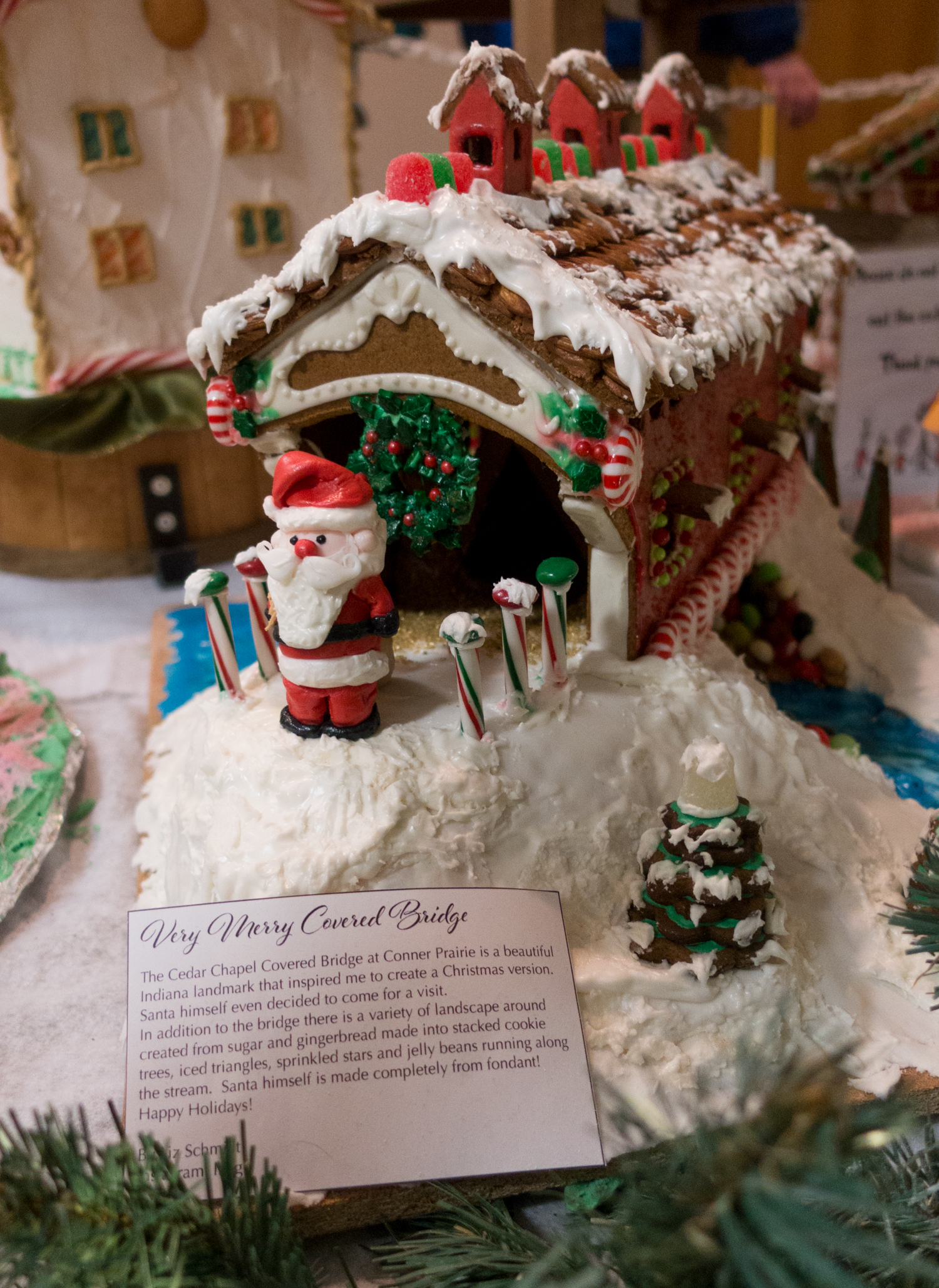 Located inside Connor Prairie, Gingerbread Village celebrates the holiday season by featuring gingerbread creations made by talented bakers of all ages.