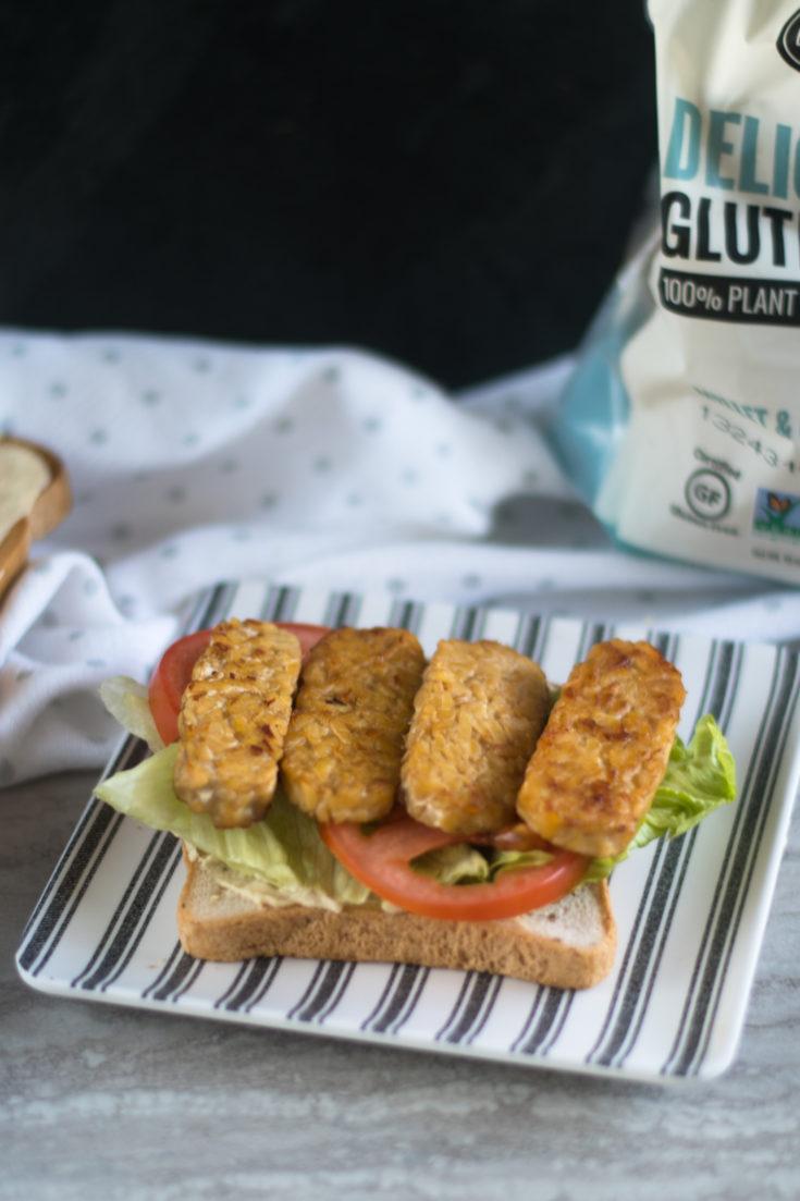 Vegan Hummus BLT Sandwich