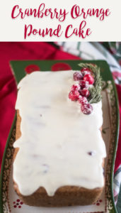Vegan Cranberry Orange Pound Cake is a flavorful cake that is perfect for the holidays. #Christmas #Dessert #Vegan #poundcake #cranberry #orange #holiday #christmasrecipes #winter #veganrecipes