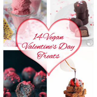 If you're looking for sweet vegan treats for Valentine's Day, this is the right post for you! Your loved ones will love these delicious 14 Vegan Valentine's Day Treats. #vegan #valentine's #holiday #desserts #recipes #treats #dairyfree