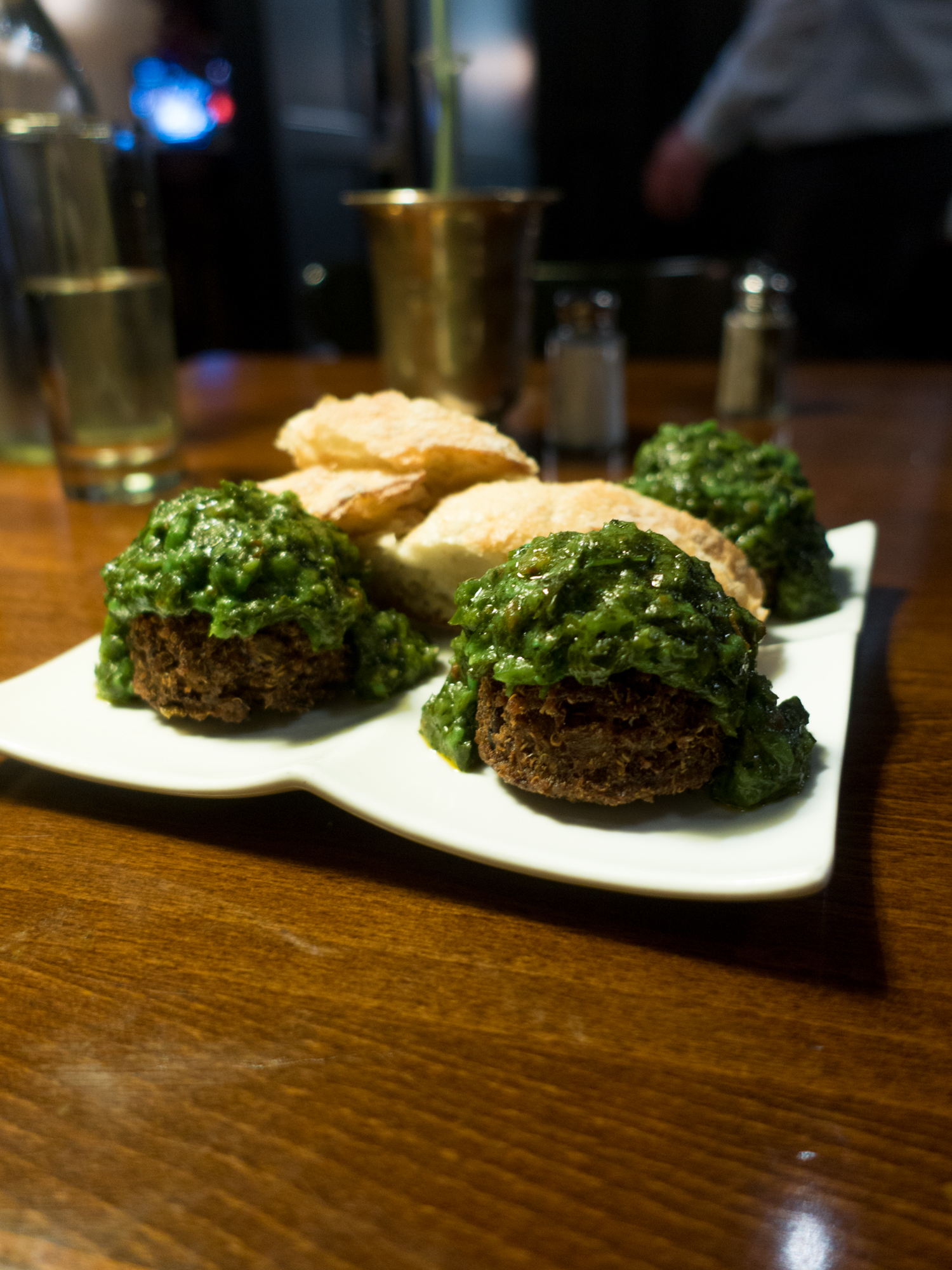 At Mimi Blue Meatballs, you'll find a meatball focused menu. There are meatball options for everyone—even vegan meatballs!