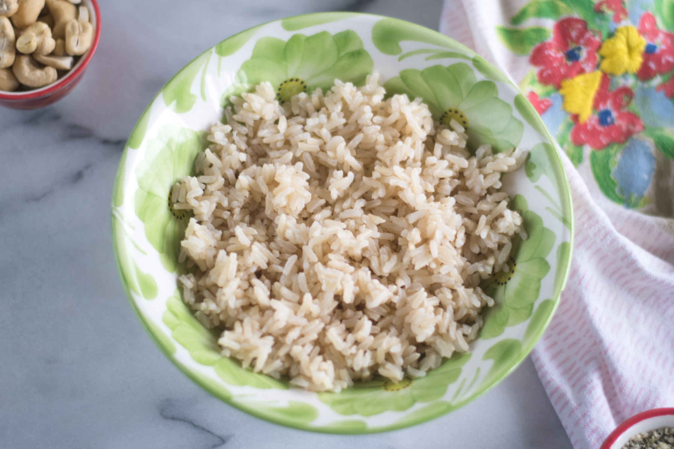 Transport yourself to a tropical island with this A Touch of the Tropics Rice Bowl!