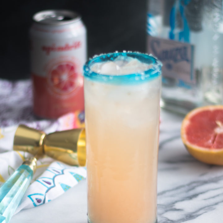 This Mexican Paloma Cocktail is a light, refreshing cocktail is made with fresh grapefruit juice, lime juice and tequila. Perfect cocktail for tequila lovers!
