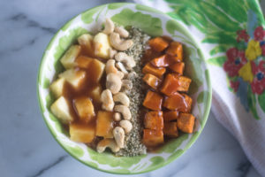 Transport yourself to a tropical island with this A Touch of the Tropics Rice Bowl! #vegan #rice #pineapple #veganprotein #recipes
