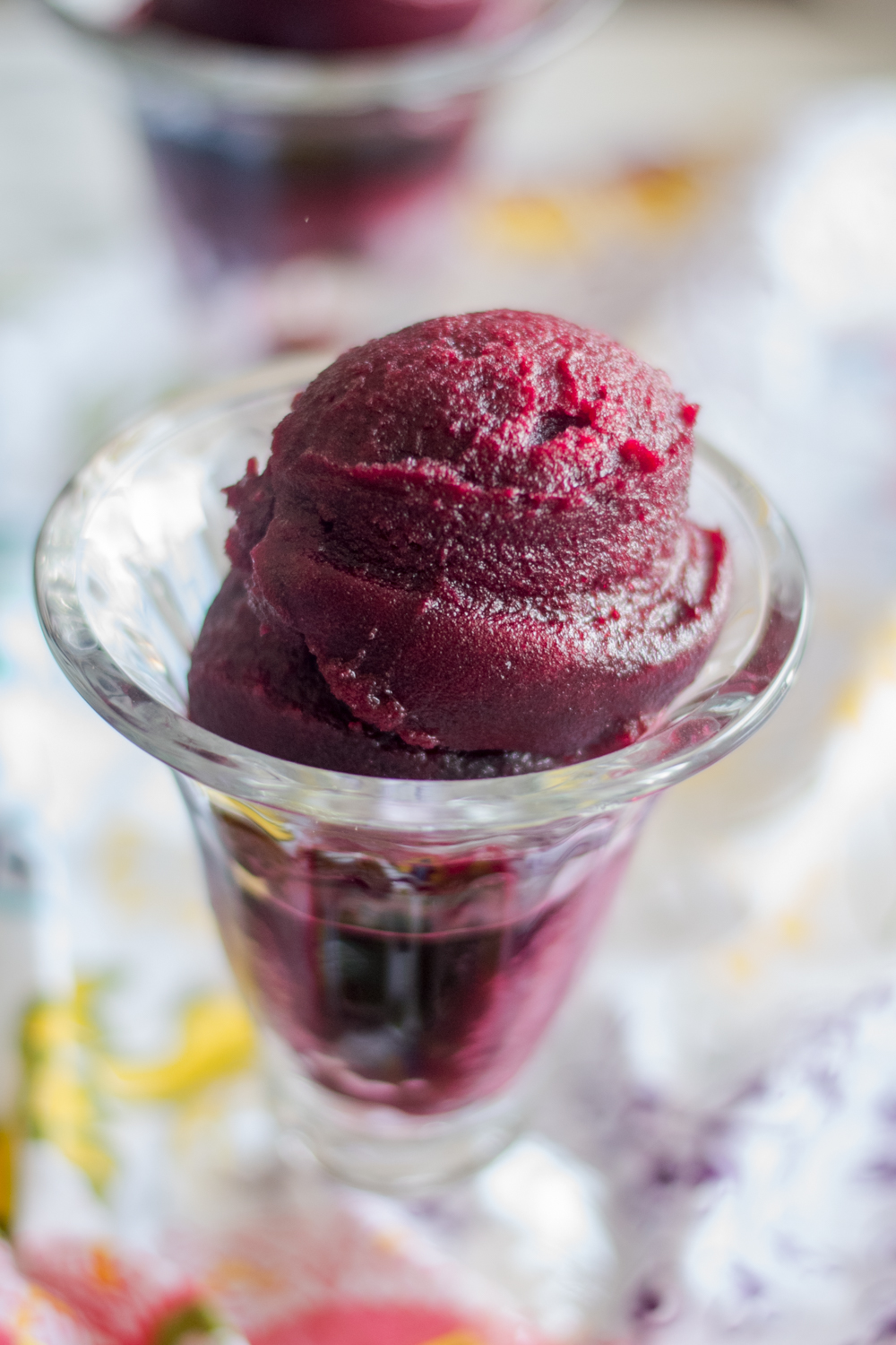 This Red Wine Hibiscus Sangria Sorbet combines all the classic flavors found in traditional Spanish Sangria into a frozen dessert!