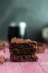 Vegan Red Wine Brownies are a great way to use up leftover wine. They are moist, tender, and chocolatey. #vegan #recipes #dessert #chocolate #wine #brownies.