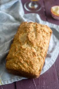 Homemade Vegan Beer Bread is so easy to make! #vegan #beer #recipe #bread
