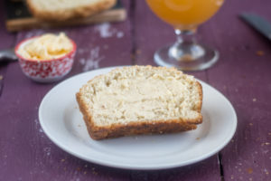 Vegan homemade bread made with beer!