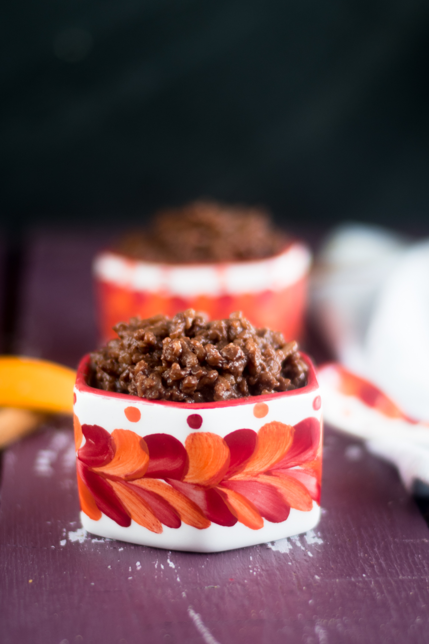 A chocolatey twist on traditional arroz con leche. This creamy rice pudding is infused with two types of chocolate. This is great for dessert or a sweet breakfast treat. #vegan #dessert #Mexican #glutenfree #recipes #chocolate #easyrecipes