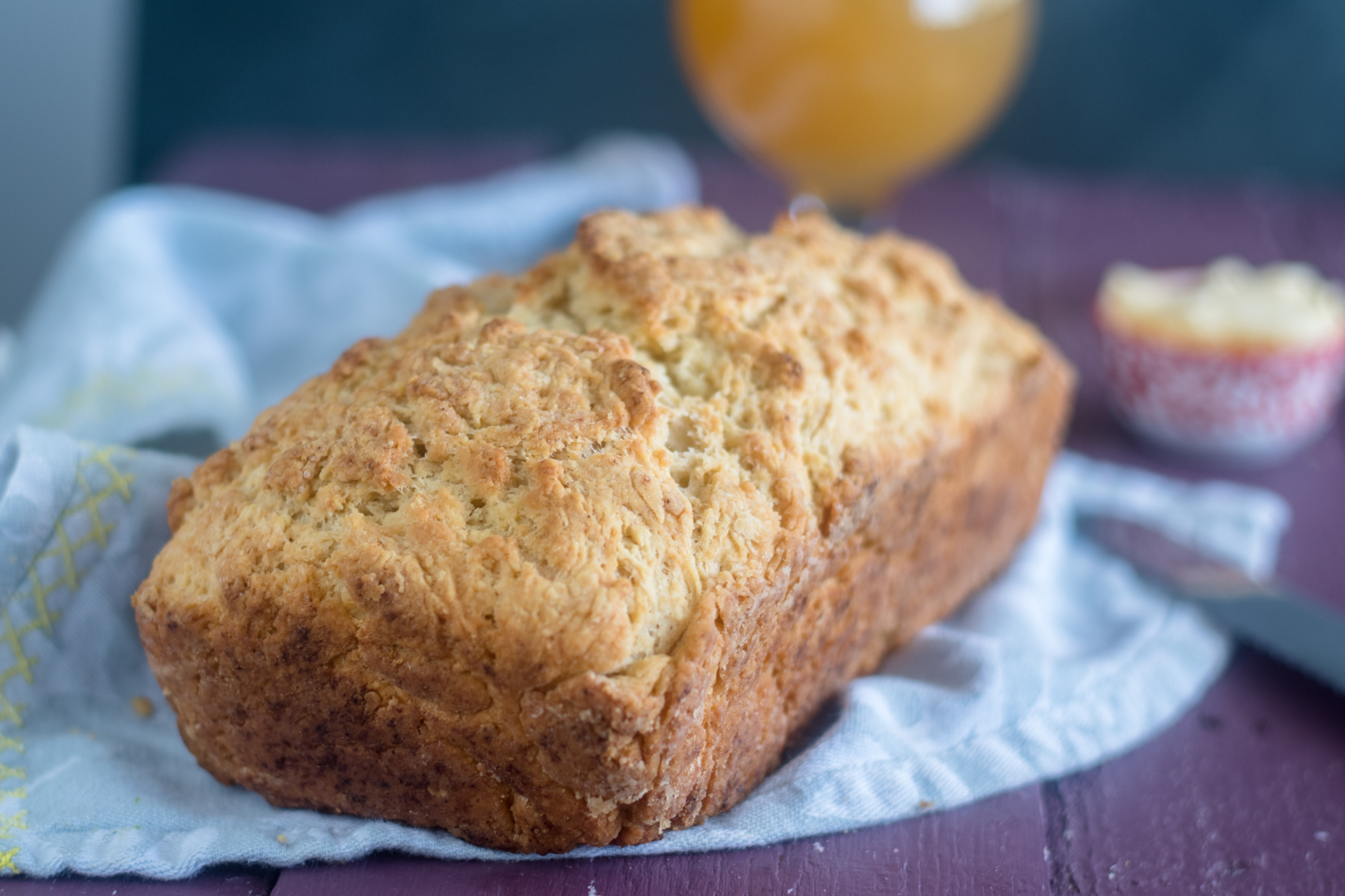 Homemade beer bread is so easy to make!