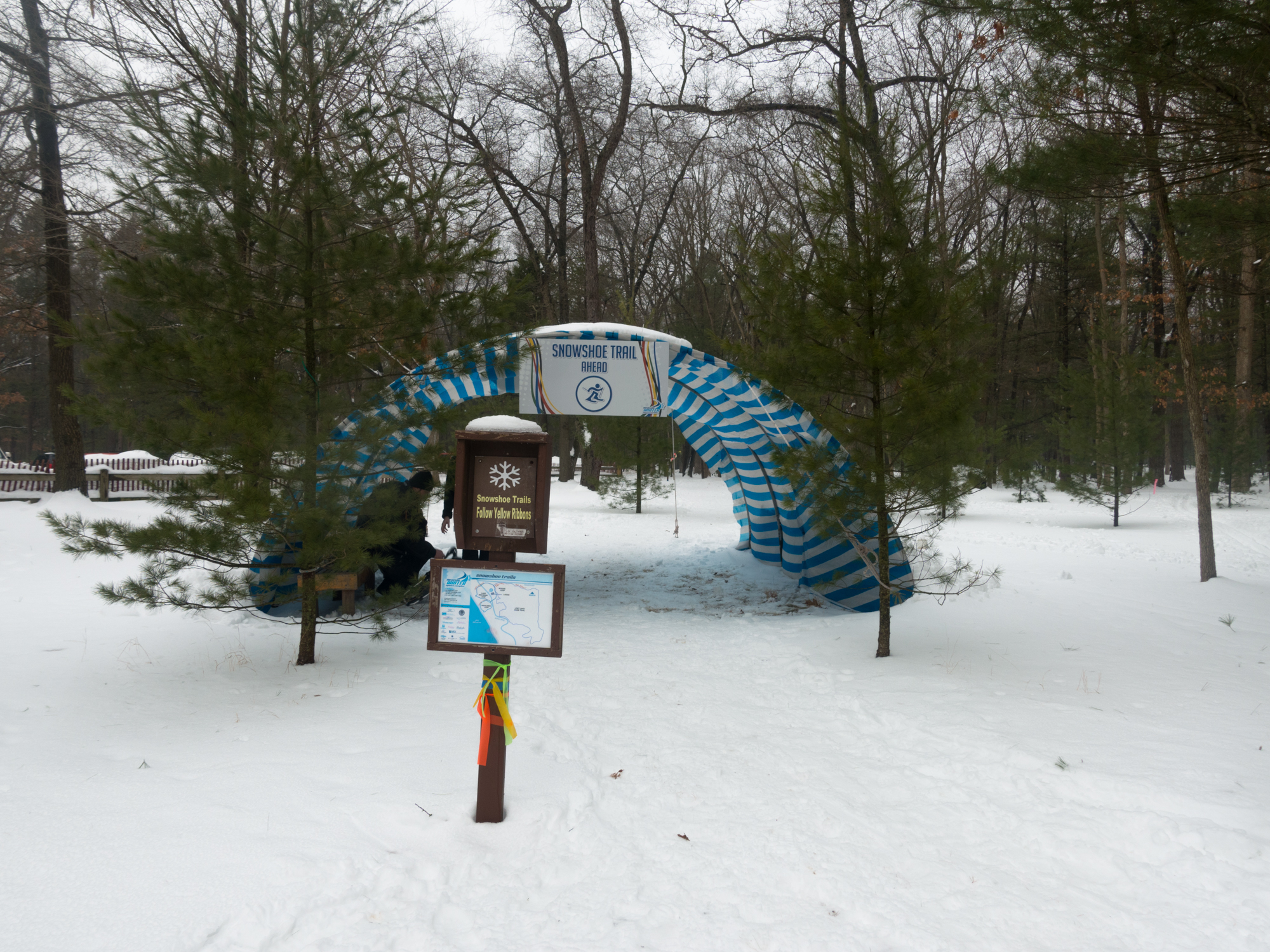 The snowshoe trails at the Muskegon Winter Sports Complex offers the most beautiful scenery in the region. For a quick hike, head over to theWoods Loopfor a quick loop around Muskegon State Park or theLake Michigan LoopandLost Lake Trailsfor spectacular views of the lake shore. The three trail systems serves all skill levels – beginner through expert.