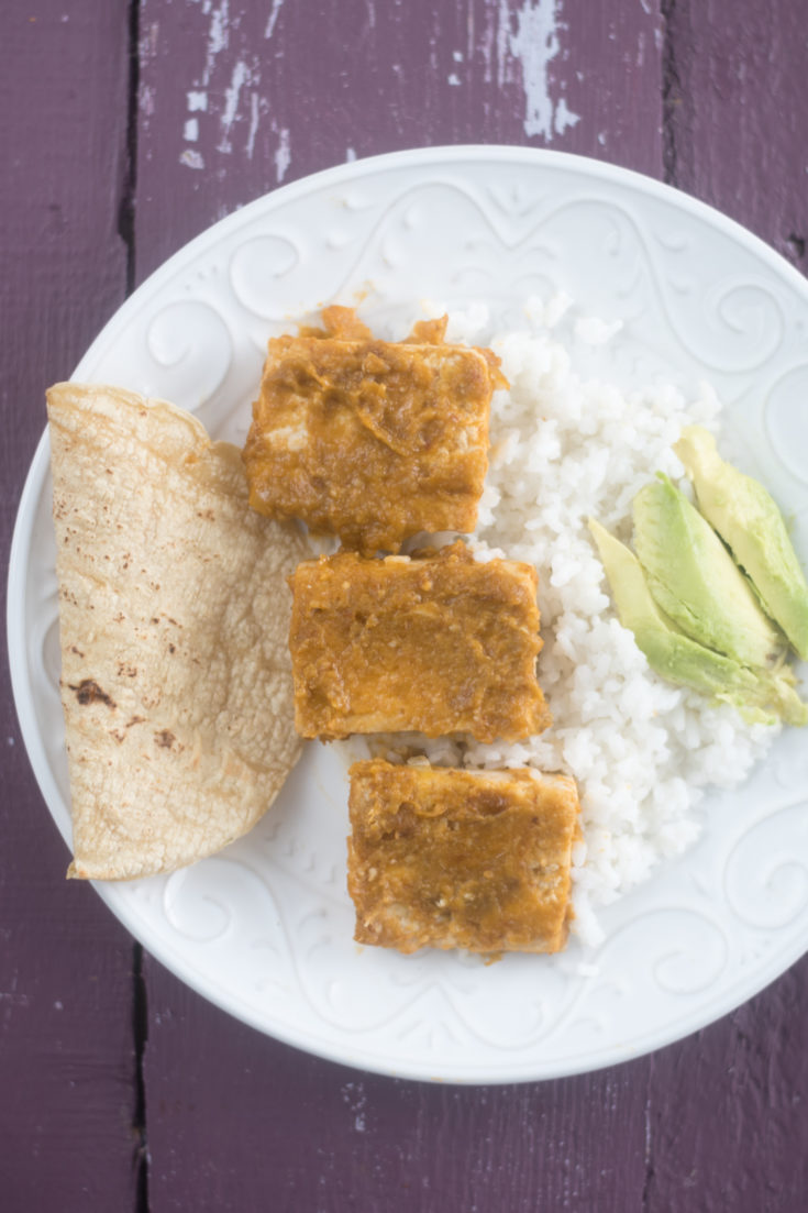 Tofu in Tomatillo + Chipotle Sauce