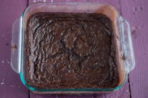 Vegan brownies made with red wine. #vegan #dessert #brownies #recipe #wine