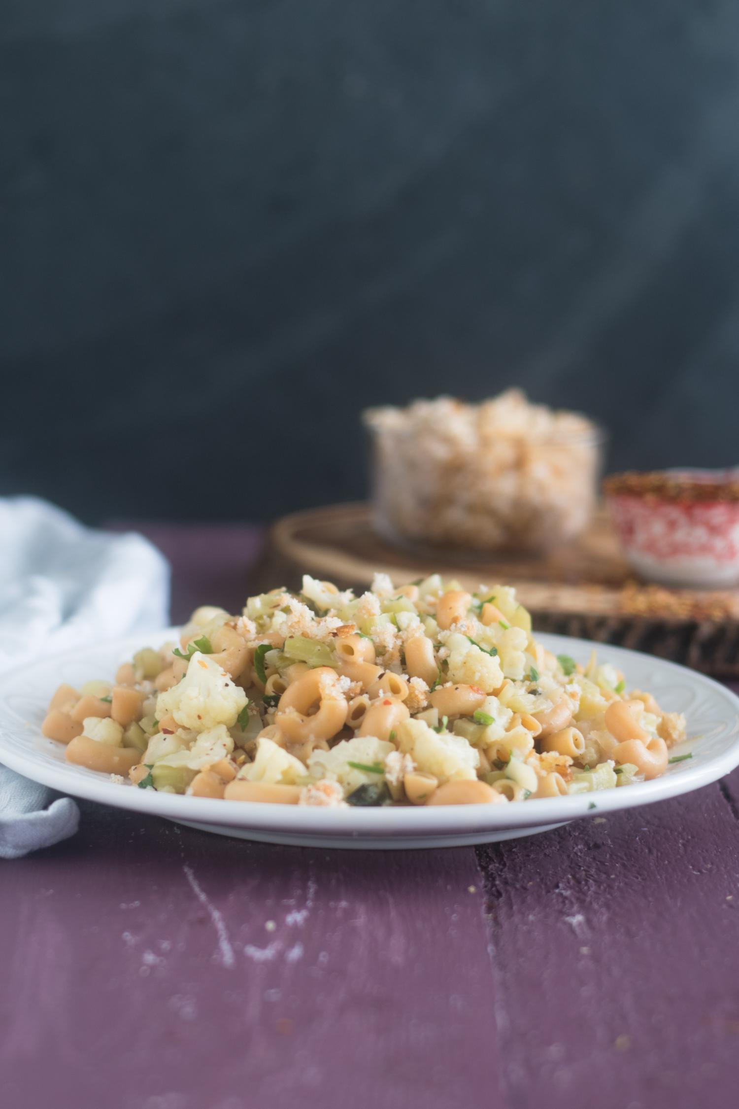 Vegan & Gluten-free Cauliflower Pasta