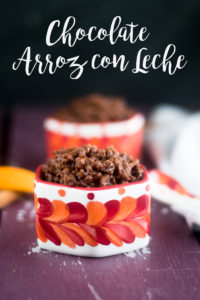 A chocolately twist on traditional arroz con leche. This creamy rice pudding is infused with two types of chocolate. This is great for dessert or a sweet breakfast treat. #vegan #recipes #dessert #dairyfree #glutenfree #Mexican #rice #chocolate