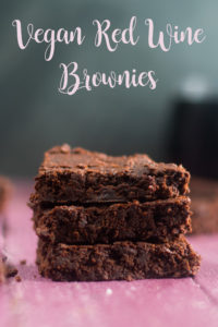 Rich, chocolaty brownies made with red wine. If you have leftover red wine, this is a great way to use it up! #wine #vegan #chocolate #recipes #desserts #dairyfree #redwine