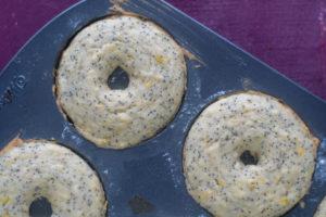 Vegan Lemon Poppy Seed Donuts are a bright, citrusy breakfast treat. #vegan #donuts #lemon #recipes #dairyfree