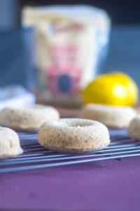 Baked vegan lemon poppy seed donuts are the spring spring treat for breakfast! #vegan #breakfast #lemon #recipe #dairyfree
