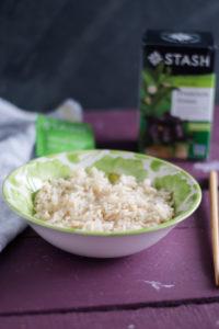 Green tea infused rice