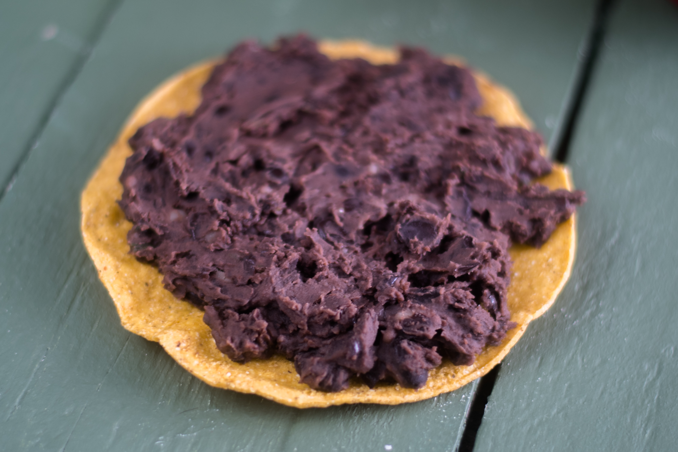 Vegan Refried Bean Tostadas