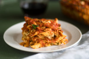 This Vegan Baked Pasta with Tofu Ricotta is perfect if you are looking for an easy, budget-friendly meal that is also delicious!