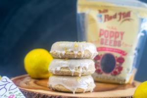 Baked Vegan Lemon Poppy Seed Donuts #vegan #breakfast #donuts #lemon #poppyseed #dessert #dairyfree
