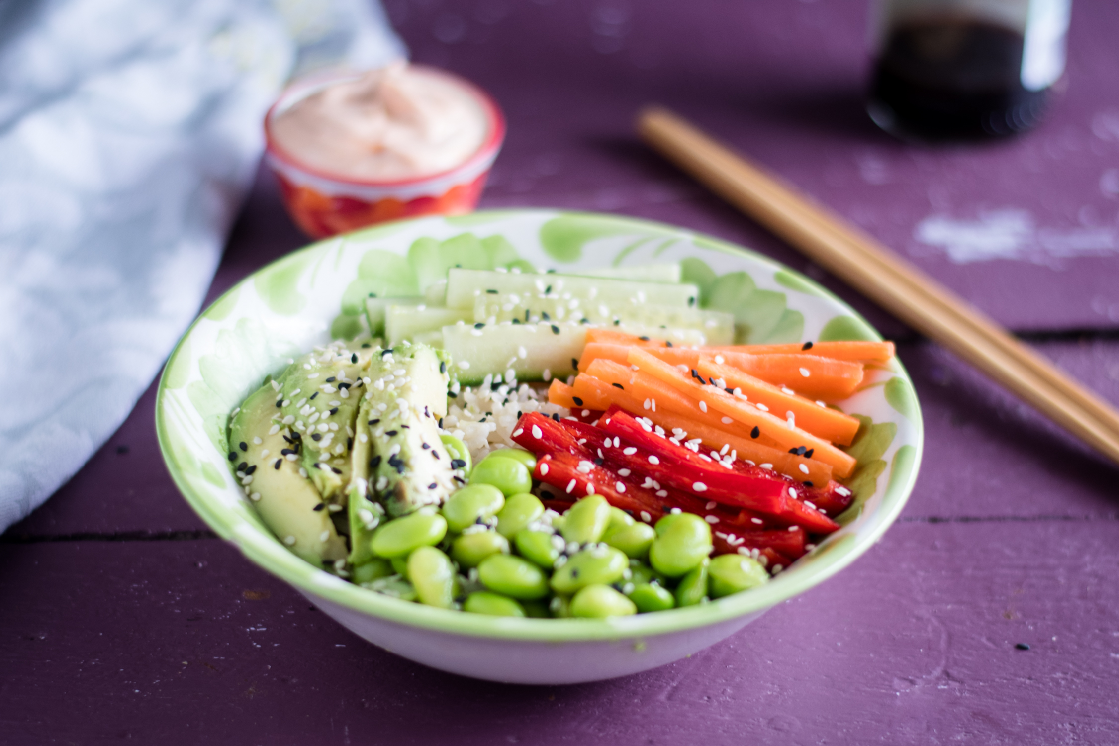 Vegan Sushi Bowls #vegan #recipes #glutenfree #rice