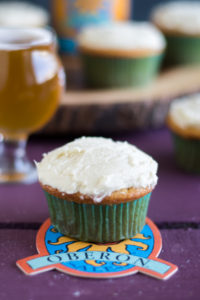 Oberon Orange Cupcakes are the perfect cupcake for spring and summer entertaining. #food #cupcake #dessert #beer